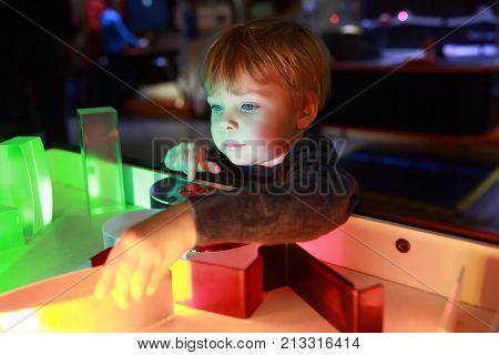 Preschooler Studying The Refraction Of Light