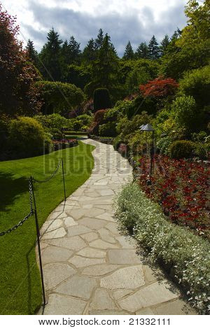Walkway Through Flower Garden