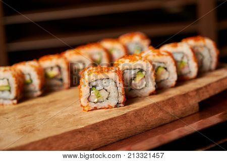Philadelphia Roll Sushi With Salmon