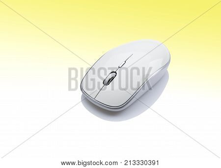 Modern white wireless computer mouse Input Device