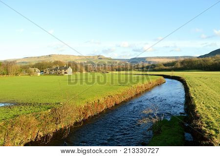 River Tame in Friezland in the Peak District National Park