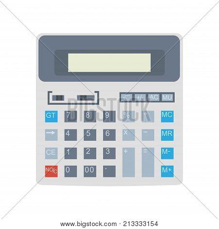 Calculator icon vector isolated design. Business button illustration sign mathematics display symbol