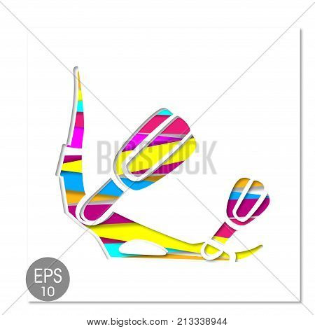 Vector Snowboard Binding icon. Stock illustration for your design