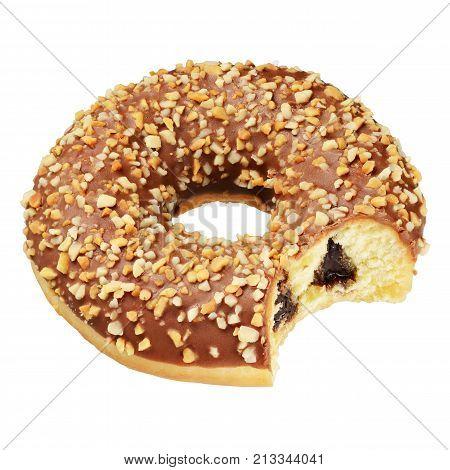 Peanut Doughnut Isolated