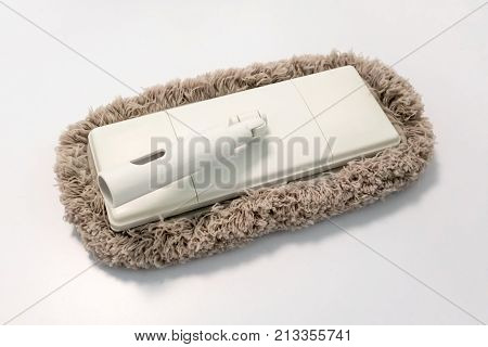 Microfiber Flooring Mop Head Isolated On White Background.