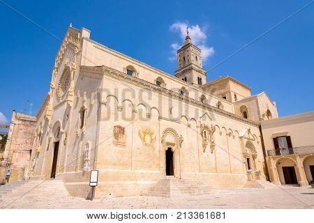 Building of Matera Cathedral Basilicata southern Italy
