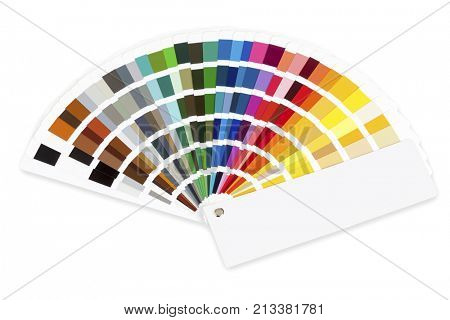 Color selector fan isolated on white background