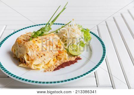 Pad Thai - Stir fried rice noodles - thai cuisine