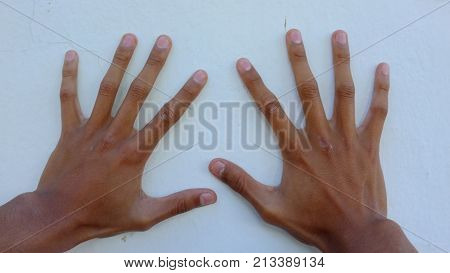 photo of these particular hands with very long fingers