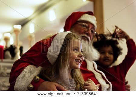 Santa claus and kids