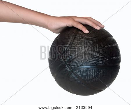 Holding A Basketbal