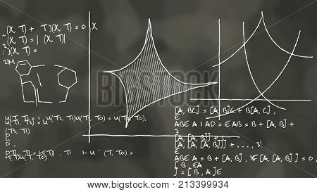 Physics Theory Formula Blackboard