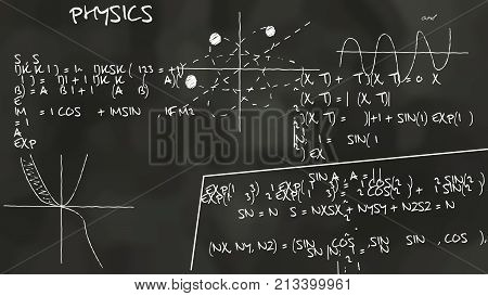 Physics Theory Graph Chalkboard