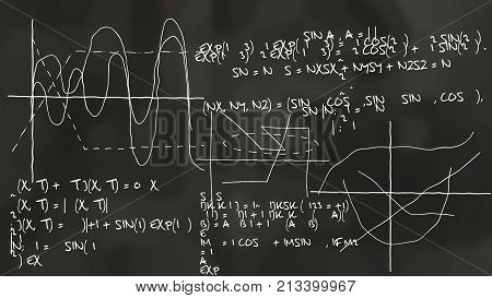 Physics Theory Sinusoidal Chalkboard
