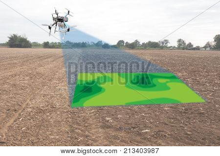 drone for agriculture drone use for various fields like research analysis safety rescue terrain scanning technology monitoring soil hydration yield problem and send data to smart farmer on tablet