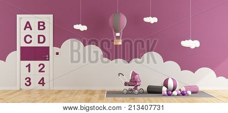 Purple Playroom For Baby Girl