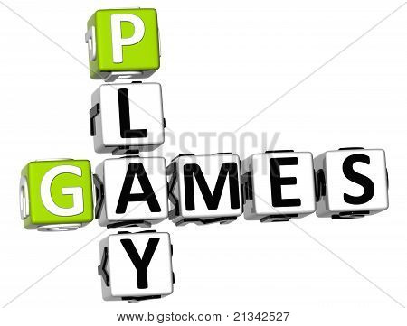 3D Play Games Crossword