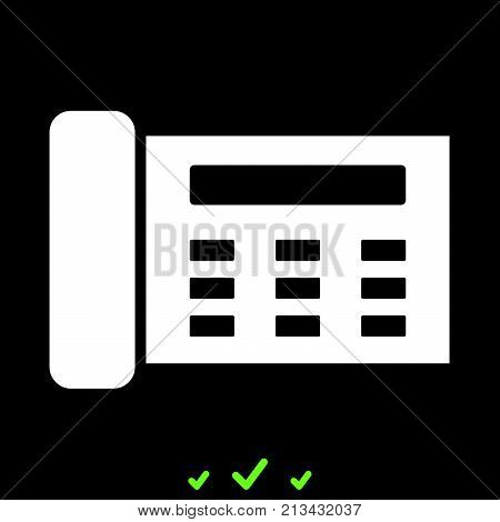 Fax It Is White Icon .