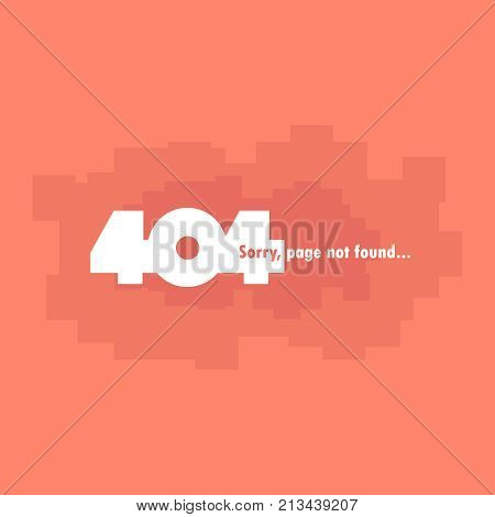 The page you need is not found, error 404. On an orange background. Vector illustration.