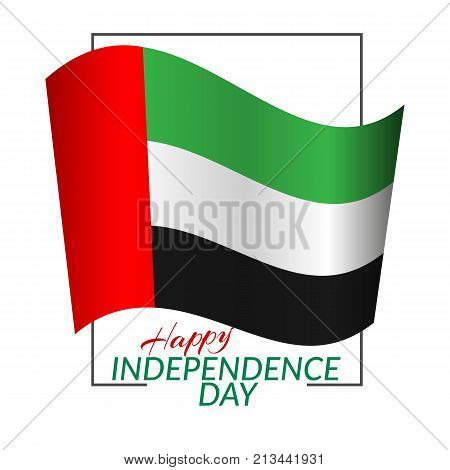 National flag united vector photo free trial bigstock national flag of the united arab emirates uae in a rectangular frame with the m4hsunfo