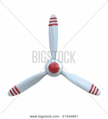 Plane propeller with 3 blades
