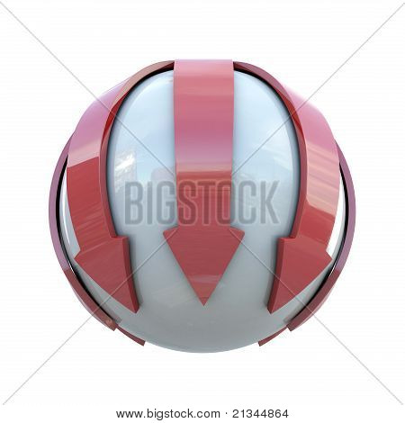 Red lines on sphere