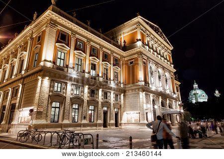 Vienna State Opera House At Night
