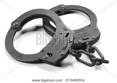 Black Police Handcuffs