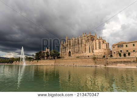 The Cathedral of Santa Maria of Palma in Mallorca (Balearic Islands, Spain)