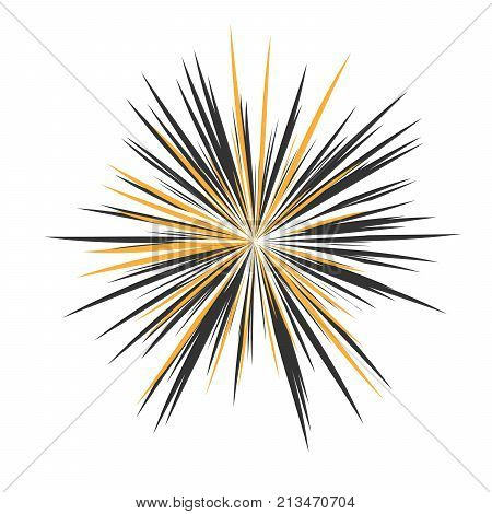 Abstract Star Rays, Holiday Firework, Dynamite Burst, Sun Burst, Star Burst Sunshine, Radiating From the Center of Beams, Abstract Explosion