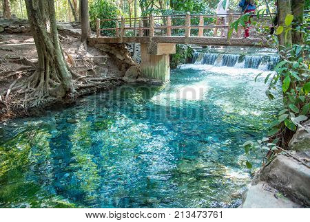 The Fountain,.natural Wells In Pak Chong Is A Tourist Attraction, The Nature Of The Water Is Very Cl