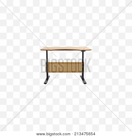 Realistic Desk Element. Vector Illustration Of Realistic Worktop Isolated On Clean Background