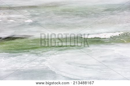 Texture Of Ice On A Frozen River