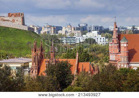 St Anne and Bernadine Churches in Vilnius. Vilnius Lithuania.