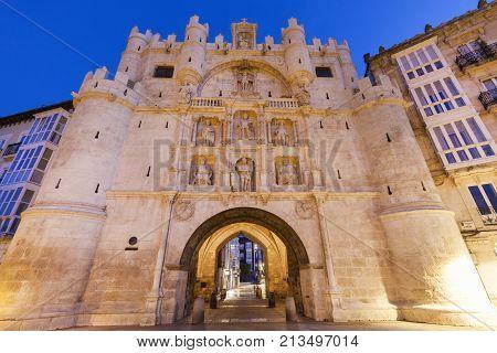 Arco de Santa Maria in Burgos. Burgos Castile and Leon Spain.