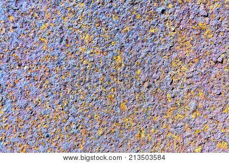 Abstract Corroded Colorful Rusty Metal Background, Texture