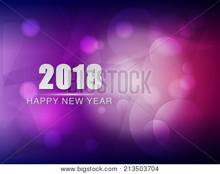 happy new year 2018 violet purple greeting card holiday seasonal concept