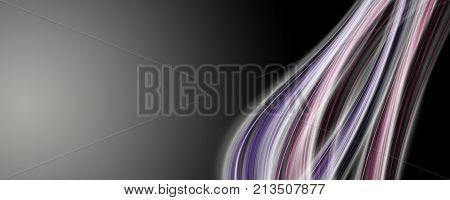 Abstract Elegant Romantic Panorama Background Design Illustration