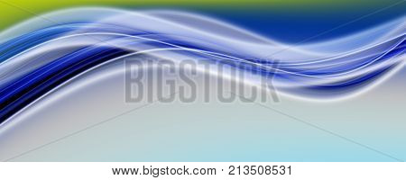 Abstract Elegant Eco Panorama Background Design With Space For Your Text