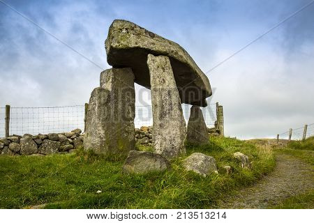 Legananny Dolmen is a tripod dolmen in north Ireland around 5000 years of age