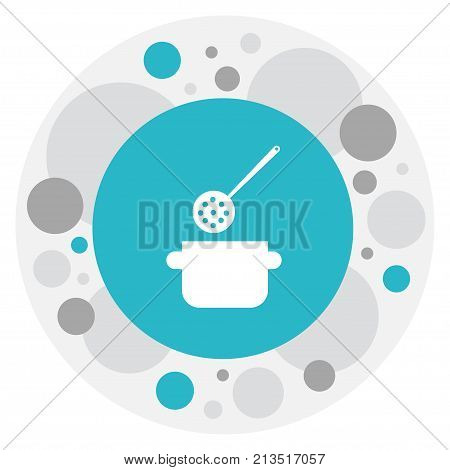 Vector Illustration Of Cook Symbol On Stewpot Icon