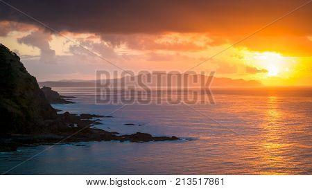 Pacific Ocean Sunrise New Zealand