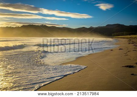 Ocean Waves Waikawau Bay New Zealand