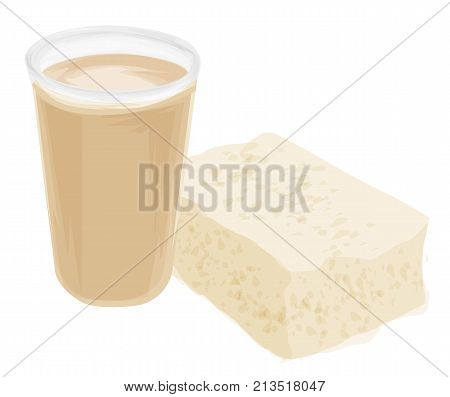 Soybeans, object. Background of soy grain. Best vector illustration for soya, agriculture, legume, farming, gastronomy olericulture healthy food