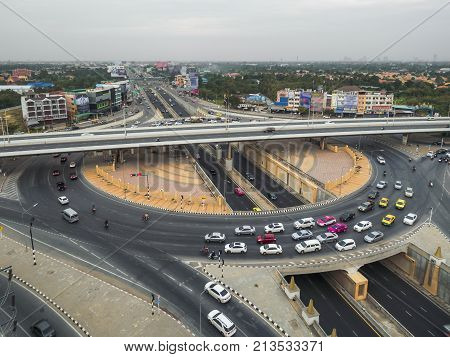 Transportation By Land Ring Road Have Tunnel Road Roundabout And A Bridge .