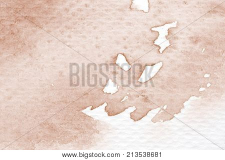 Brown abstract watercolor painting textured on white paper background watercolor background for art and design concept