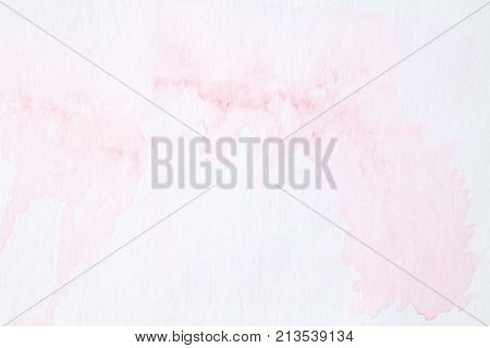 Pink abstract watercolor painting textured on white paper background watercolor background for art and design concept