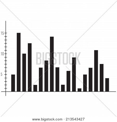 Vector illustration charts and graph icon Chart Stock Market and Exchange