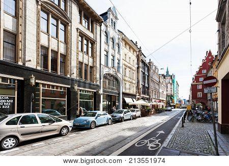 Ruska Rzeznicza Street In Wroclaw City