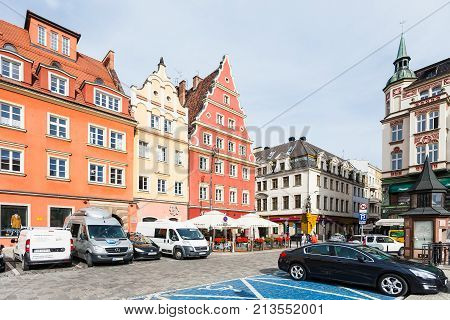 Parking Lot On Square Plac Solny In Wroclaw City